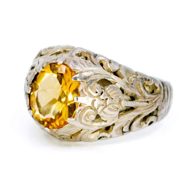 Citrine, Silver Ring 12565-0625 Image2