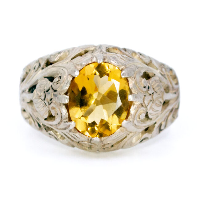 Citrine, Silver Ring 12565-0625 Image1